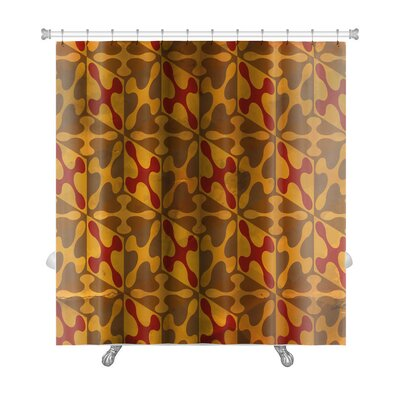 Gamma Vintage Pattern Abstract Premium Shower Curtain Color: Brown/Sand