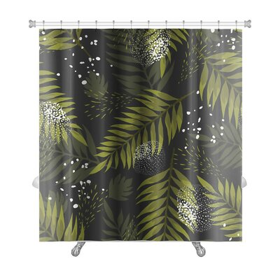 Leaves Leaf Palm Premium Shower Curtain