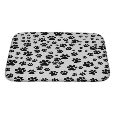 Cappa Dog Footprint Bath Rug Size: Large