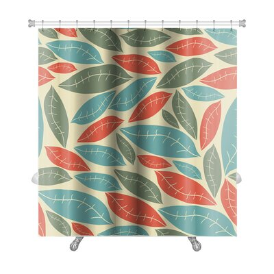 Bravo Autumn Leaf Pattern Premium Shower Curtain