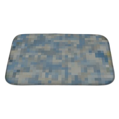Primo Abstract Colorful Square Mosaic Oil Painted Bath Rug Size: Large