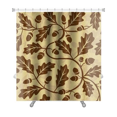 Leaves Oak Leaf Acorn Premium Shower Curtain