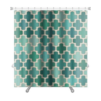 Gamma Islamic Cross Geometric Premium Shower Curtain