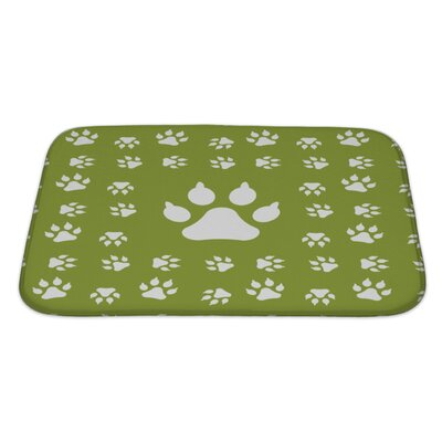 Animals with Dog Paw Print Bath Rug Size: Large