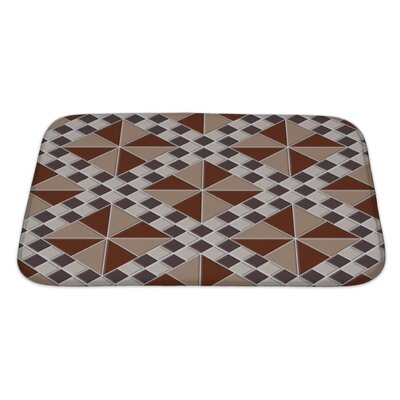 Kilo Repeating Abstract with Triangles and Squares Bath Rug Size: Large
