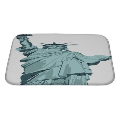 Patriotic Statue of Liberty Bath Rug Size: Large
