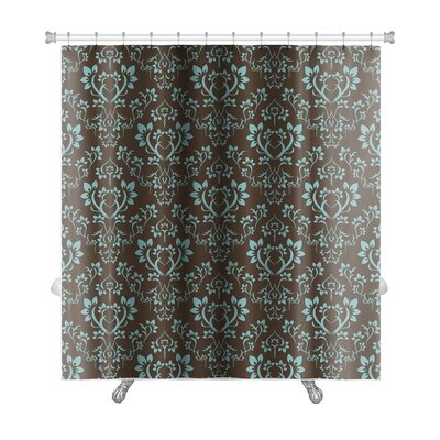 Alpha Floral Pattern Premium Shower Curtain