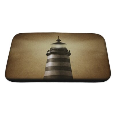 Marine Lighthouse on Old Grunge Vintage Bath Rug Size: Large
