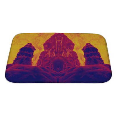 Skyline Image Fossilized Dwarf Image Enhanced Bath Rug Size: Small