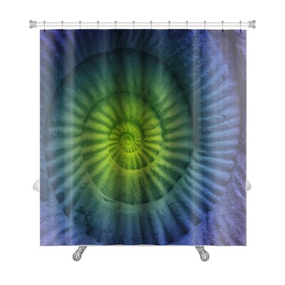 Marine Abstract Colors of Ammonite Prehistoric Fossil Premium Shower Curtain