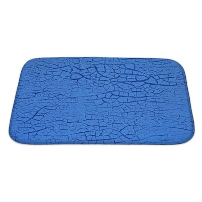 Wood Cracked Paint on Wall Bath Rug Size: Large