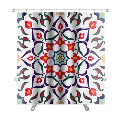 Delta Oriental Traditional Floral Ornament, Moroccan Premium Shower Curtain