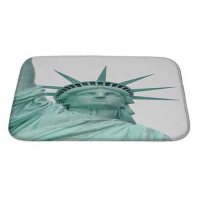 Patriotic Statue of Liberty Bath Rug Size: Large