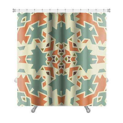 Creek Colorful Geometrical Ornament Tiles Premium Shower Curtain