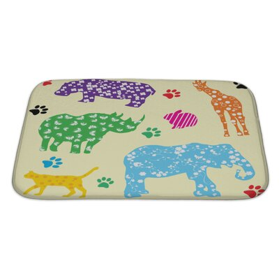 Animals Animals with Bath Rug Size: Large