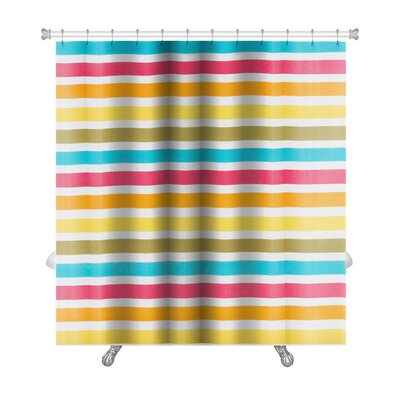 Picnic Close Up of Striped Premium Shower Curtain