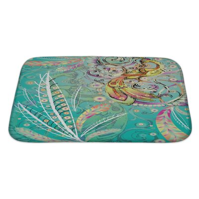 Art Alpha Firebird with Crown Bath Rug Size: Large