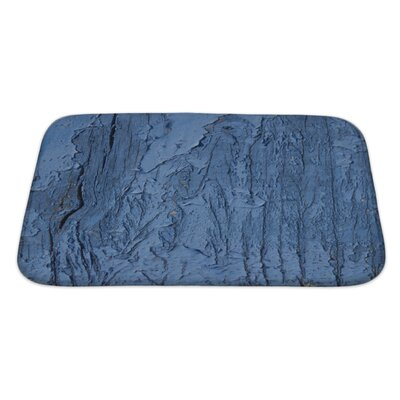Wood Cracked Paint on Wood Bath Rug Size: Large