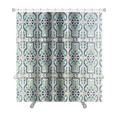 Alpha Medieval Tiles with Traditional Islamic Pattern Premium Shower Curtain