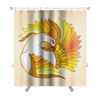 Birds Mythological Firebird Premium Shower Curtain