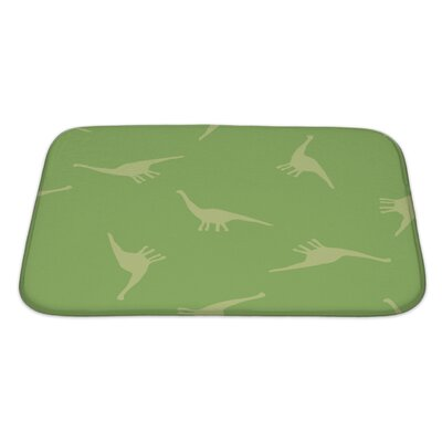 Dinosaurs Silhouettes of Dinosaurs Bath Rug Size: Small