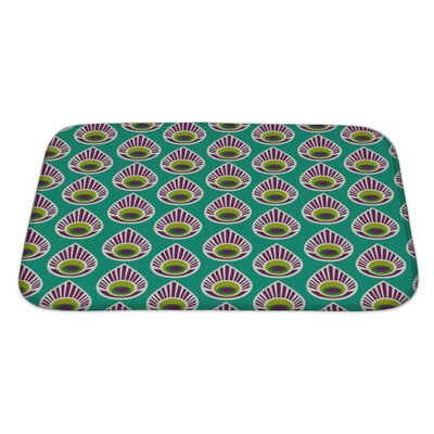 Charlie with Peacock Feather Bath Rug Size: Large