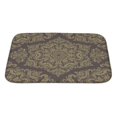 Primo Damask Pattern with Fine Traditional Oriental Ornaments Bath Rug Size: Large