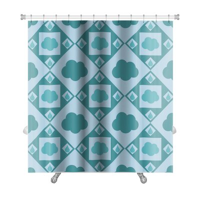 Alpha Cute Cloud Pattern Premium Shower Curtain