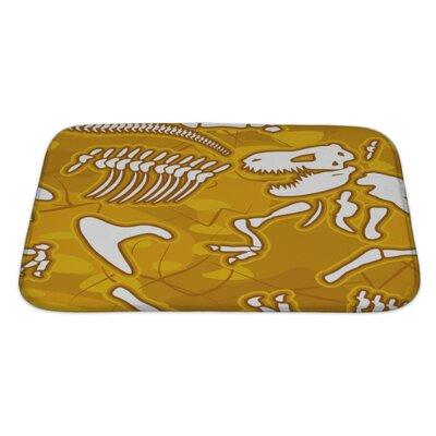 Dinosaurs Bones Bath Rug Size: Large