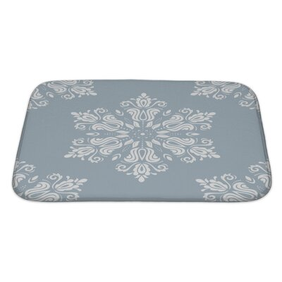 Primo Damask Pattern with Oriental Elements Bath Rug Size: Large
