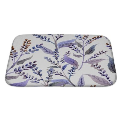 Delta Watercolor Pattern with Floral Elements Bath Rug Size: Large