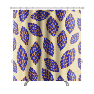 Kilo Hand Drawn Leaf Premium Shower Curtain