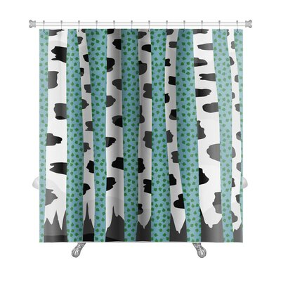 Charlie Summer Birch Trees Premium Shower Curtain