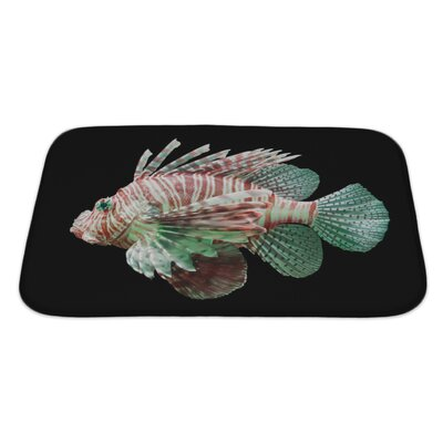 Fish Pterois Volitans, Lionfish Bath Rug Size: Large