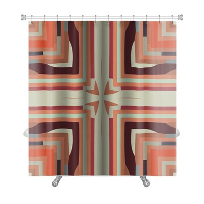 Creek Ethnic Colorful Geometrical Ornaments Premium Shower Curtain