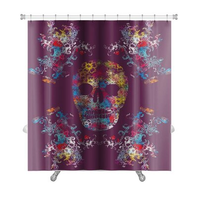 Danger Tattoo Tribal Skull Art Shower Curtain