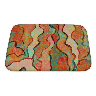 Primo Abstract Funny Watercolor Bath Rug Size: Small