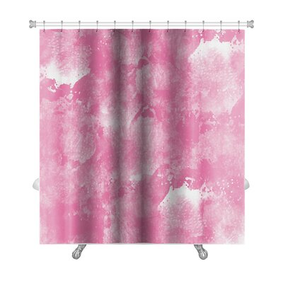 Art Primo Abstract Watercolor in Impressionism Style Premium Shower Curtain