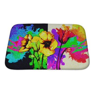 Flowers Digital Painting Bath Rug Size: Small