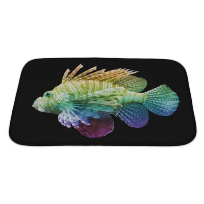 Fish Pterois Volitans, Lionfish, Unique Rainbow Bath Rug Size: Large