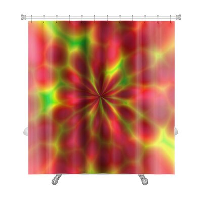 Art Beta Abstract of Fantasy Fireworks Fractals Premium Shower Curtain