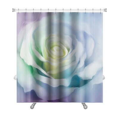 Flowers Close Up of Rose Petals Premium Shower Curtain