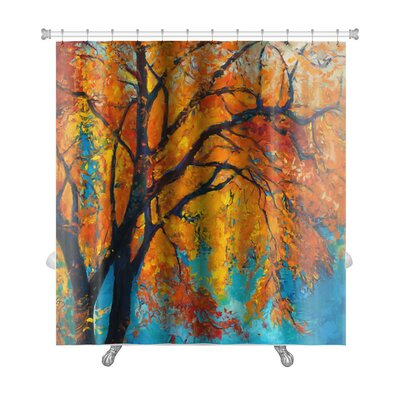 Nature Beautiful Autumn Tree Premium Shower Curtain