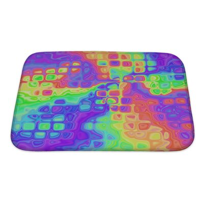 Art Alpha Bright Colorful Abstract Bath Rug Size: Small