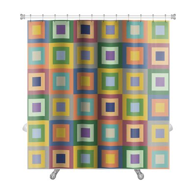 Cappa Colorful Squares Premium Shower Curtain