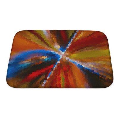 Art Alpha Abstract Blurred Blurred Effect, Rainbow Gradient Bath Rug Size: Small