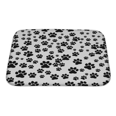 Cappa Dog Footprint Bath Rug Size: Small