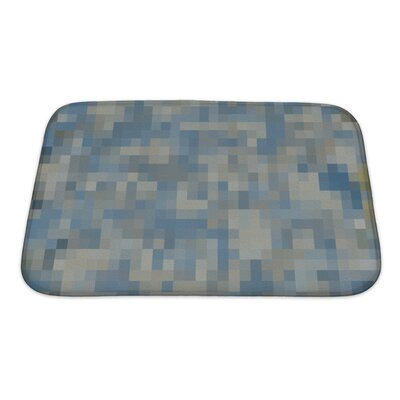 Primo Abstract Colorful Square Mosaic Oil Painted Bath Rug Size: Small