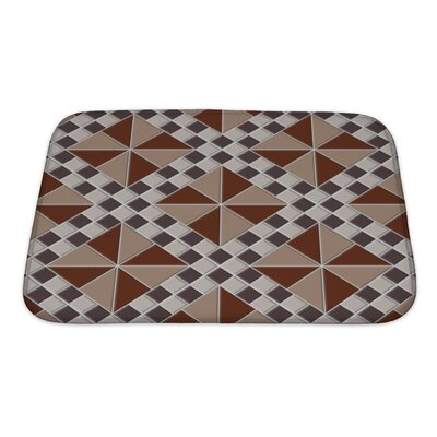 Kilo Repeating Abstract with Triangles and Squares Bath Rug Size: Small
