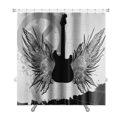 Instruments Rock Guitar Premium Shower Curtain